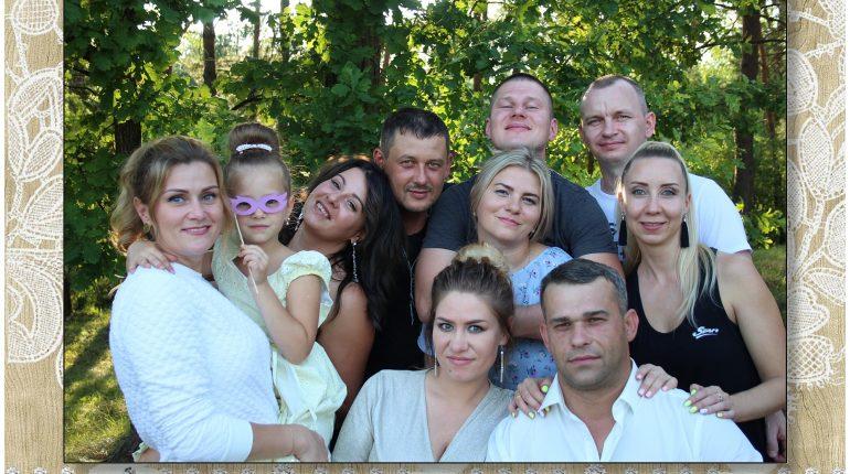Свадебное фото из фотобудкой